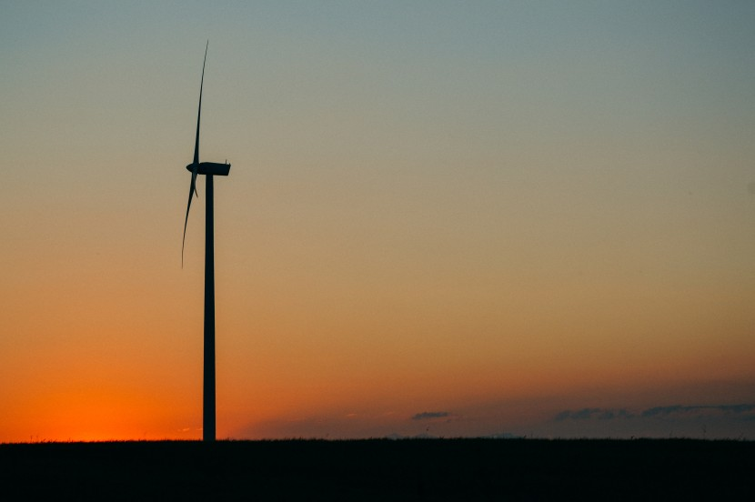 sunset wind wind farm clean energy