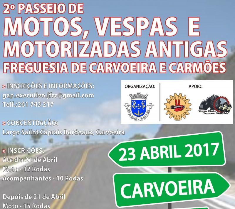 dia 23 abril passeio motos carvoeira