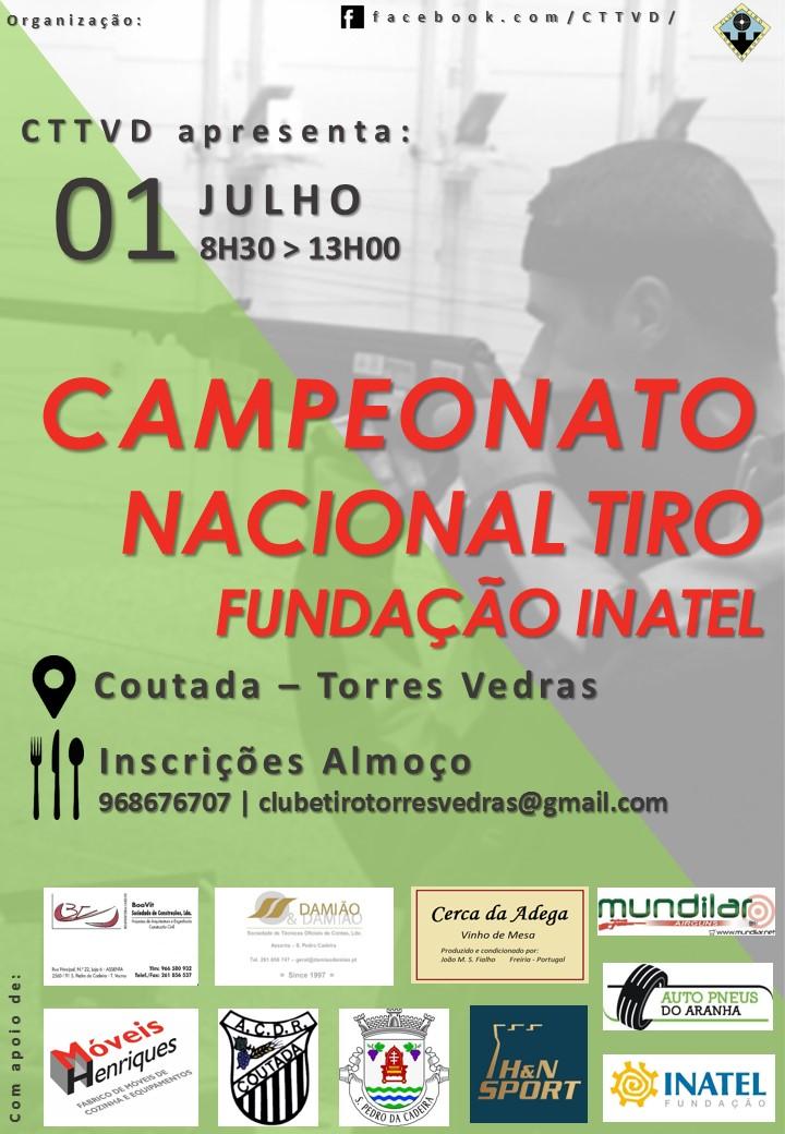 Cartaz campeonato nacional tiro