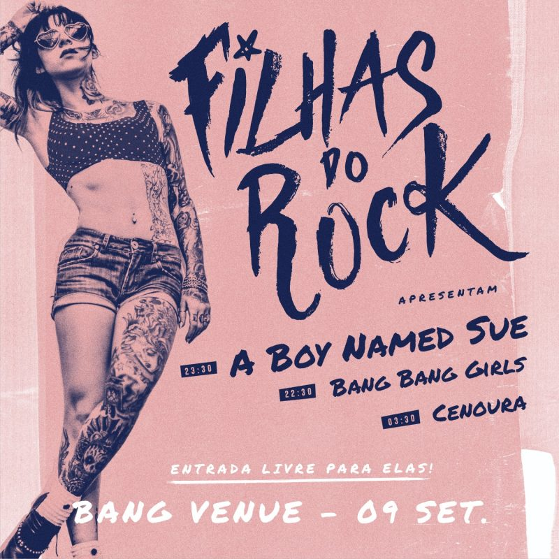 Filhas do Rock este sábado na Bang Venue