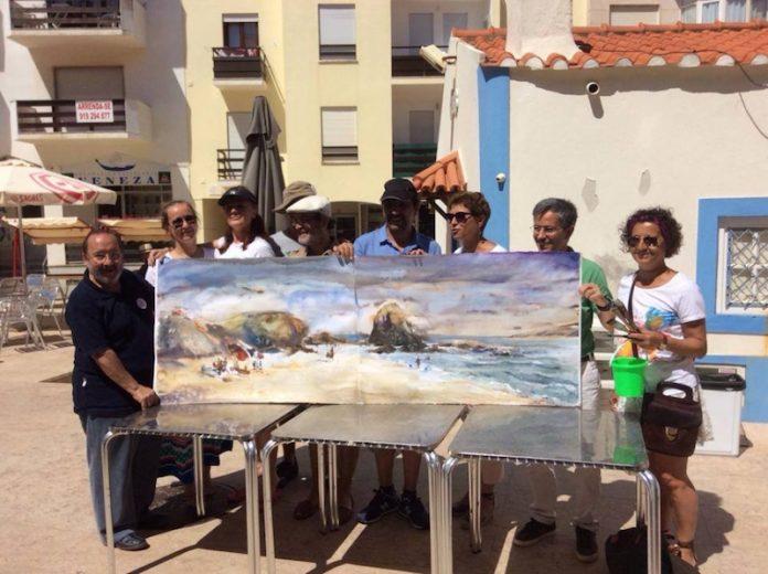 Aguarelistas de várias nacionalidades voltaram a retratar a zona de Santa Cruz