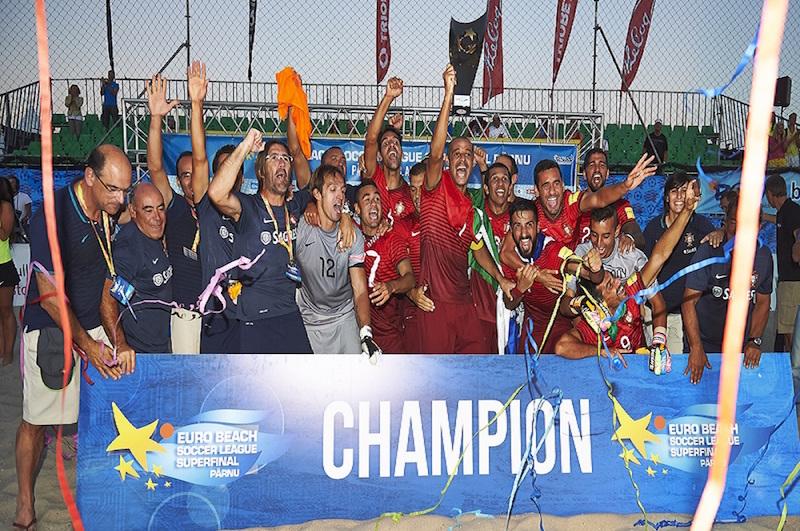 Portugal vence Superliga europeia de futebol de praia