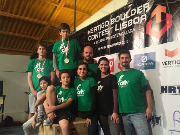 Equipa do ATV Escalada no Vertigo Boulder Contest Lisboa 2015