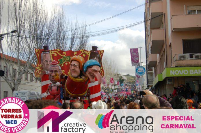 Carnaval de Torres Vedras: ruas inundadas de foliões no Corso deste Domingo