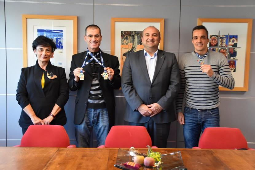 Atletas seniores torrienses foram recebidos na Câmara Municipal de Torres Vedras