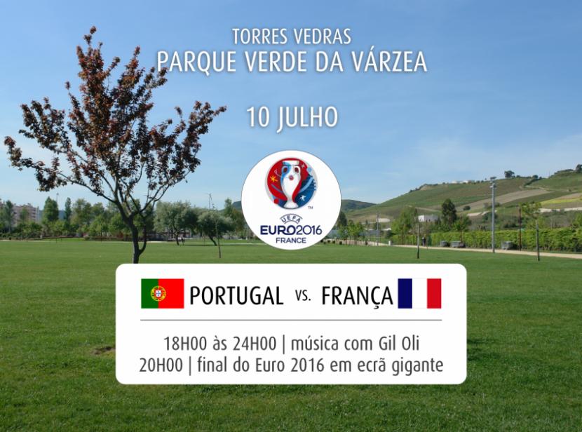 Transmissão da final do Euro em Torres Vedras