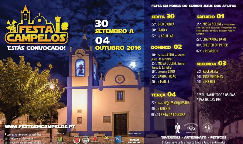 Festa de Campelos promete música, artesanato e petiscos a partir de dia 30