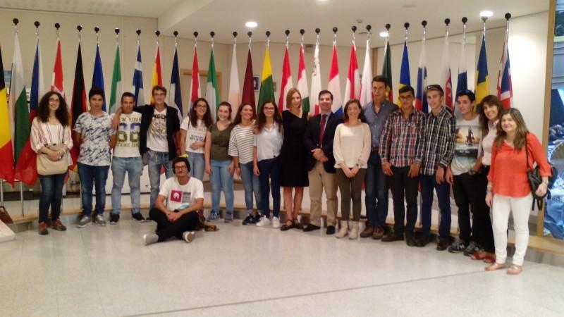 Comitiva participante no Jogo do Município visitou o Parlamento Europeu