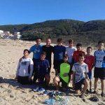 Cadetes da Academia Joaquim Agostinho em formação na Praia de Santa Rita