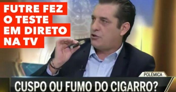 Futre fuma em direto