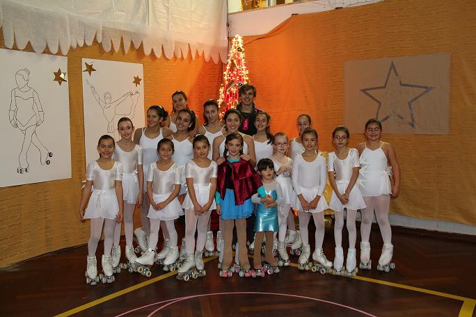 Patinagem da Física participa em Festa de Natal