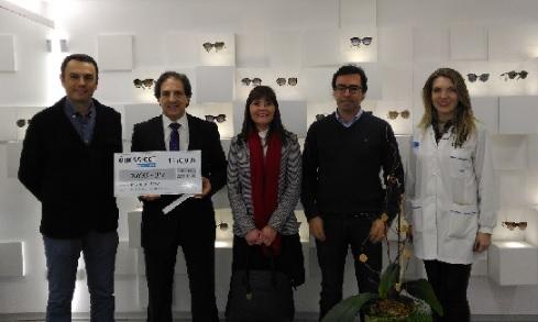 Visão Solidária das ÓTICAS-OCT entrega 1250 euros para projeto infanto|juvenil da Ordem do Trevo