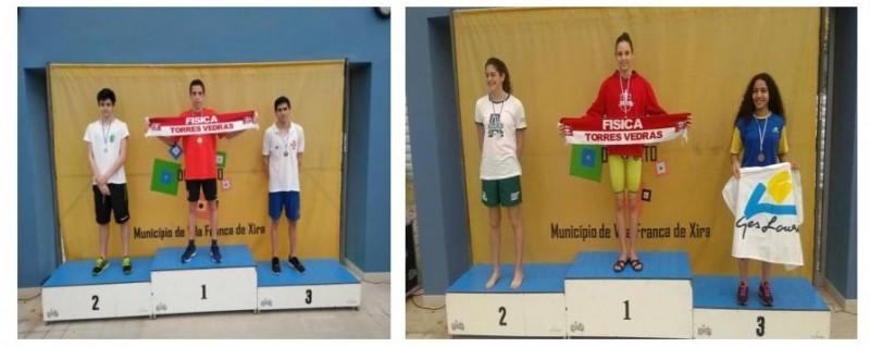 Pedro Pinto e Ema Conceição são Campeões Regionais de Natação