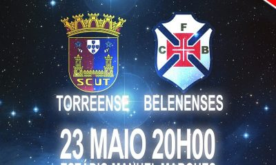 Torreense Belenenses amanhã às 20h00
