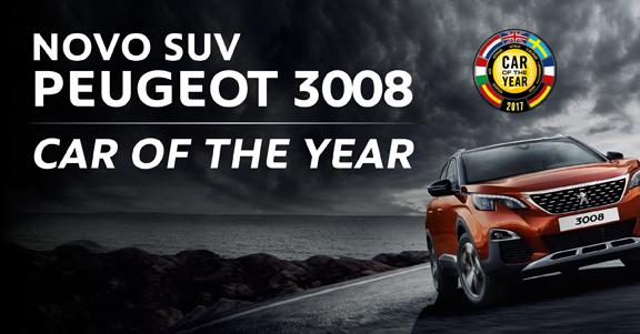Peugeot 3008 eleito carro do ano 2017