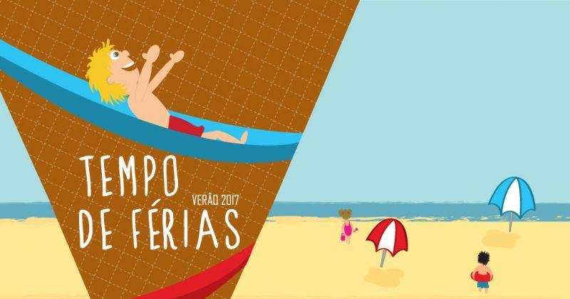 Tempo de férias - inscrições a partir de 29 de Maio