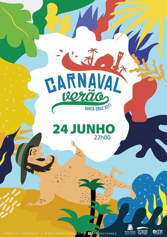 Carnaval de Verão sábado em Santa Cruz