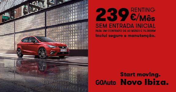 Campanha Renting Seat Ibiza na GDAuto