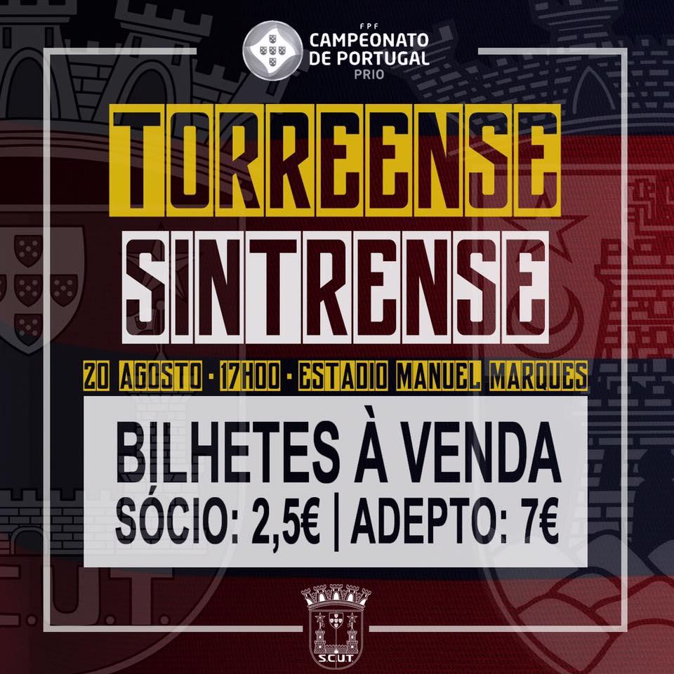 Bilhetes à venda Torreense Sintrense