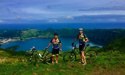 Rui Veloso e Lino Almeida do Azores Challenge MTB