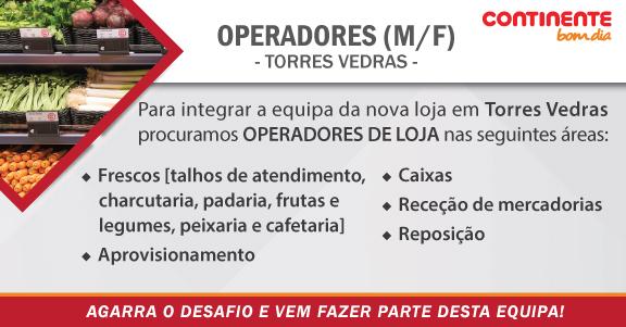 Continente Bom Dia está a recrutar em Torres Vedras