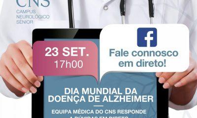 Hoje às 17h em direto no facebook o CNS fala sobre a doença de Alzheimer