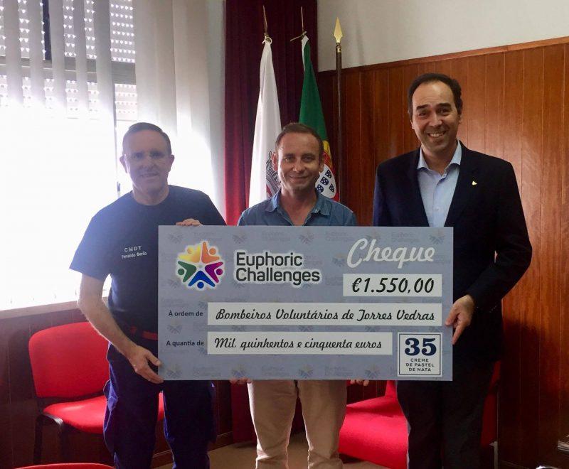Euphoric Challenges doa 1.550€ aos Bombeiros de Torres Vedras
