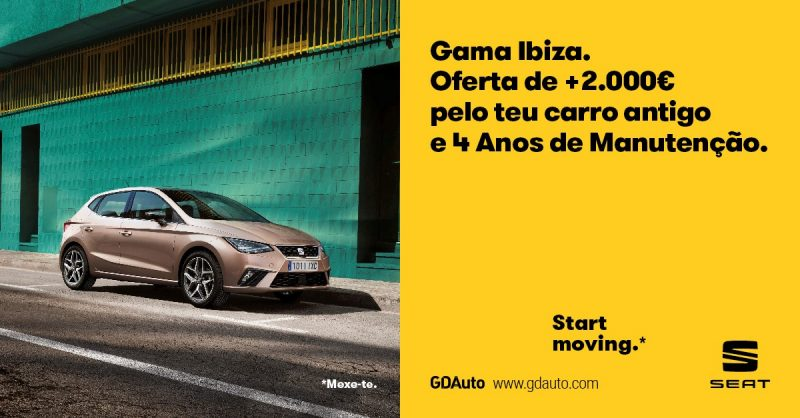 Na GDAuto tens mais 2.000€ pelo teu carro antigo na compra de um Seat Ibiza