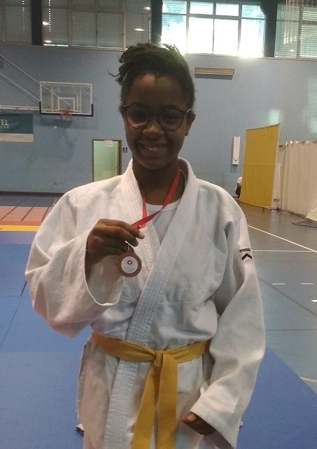 Luísa Malundo medalha de bronze em Judo