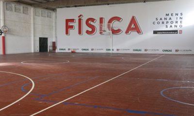 Pavilhão 2 da Física com novo piso para o Basquetebol