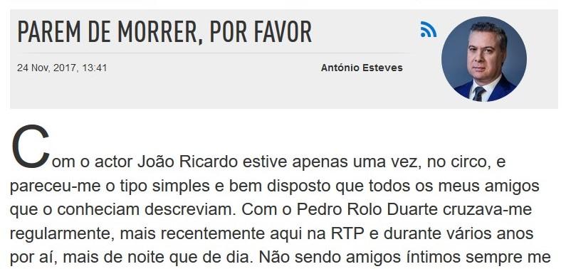 Artigo de António Esteves -
