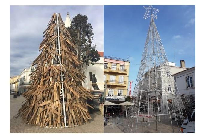 Torres Vedras com 2 árvores de Natal