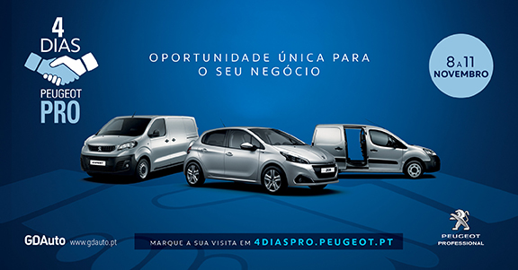 4 dias Peugeot Pro na GDAuto em Torres Vedras