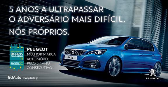 Peugeot - Escolha do consumidor pelo 5º ano consecutivo