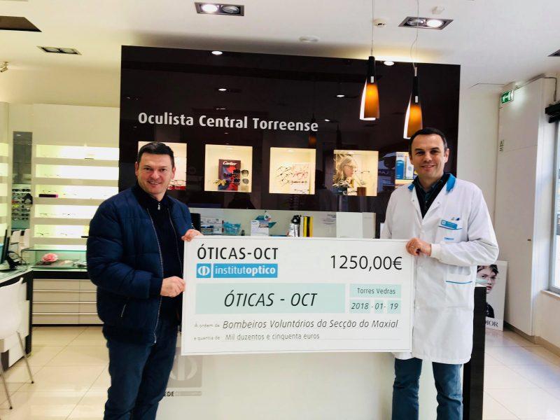 OCT entregam 1250€ à Secção do Maxial dos Bombeiros Voluntários