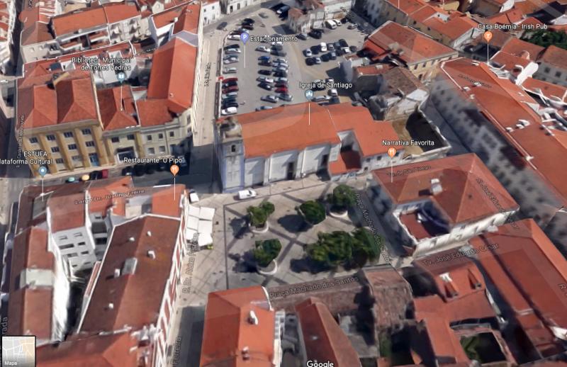 CMTV vai remover árvores da Praça Machado Santos (Praça da Batata)
