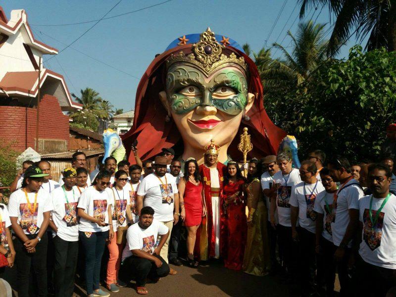 Torriense Rainha de Carnaval na Índia