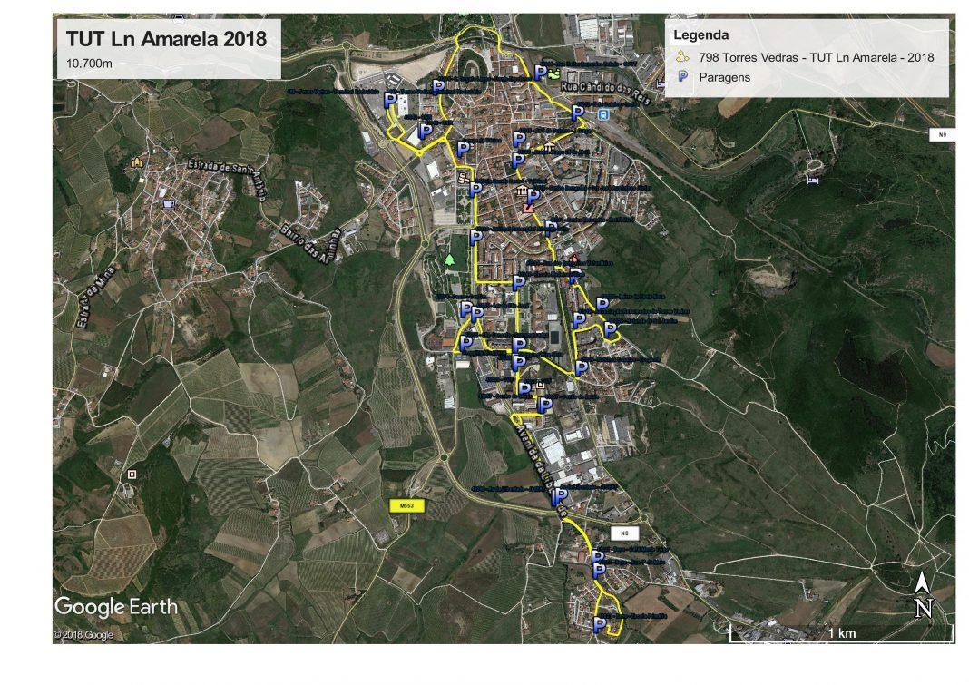 Mapa TUT Ln Amarela - 2018 10.700m