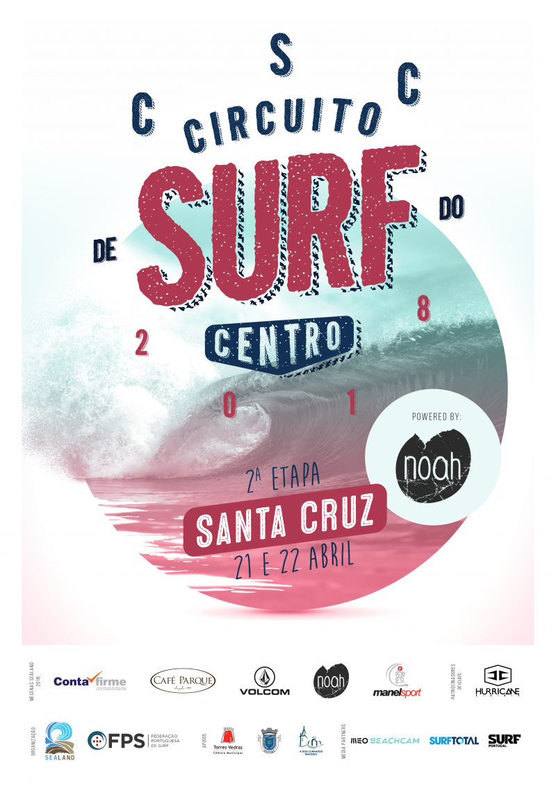 Surf do Centro em Santa Cruz a 21 e 22 Abril