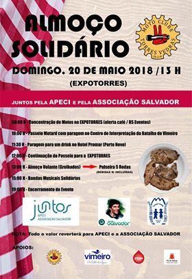 Moto Clube de Torres Vedras organiza almoço solidário