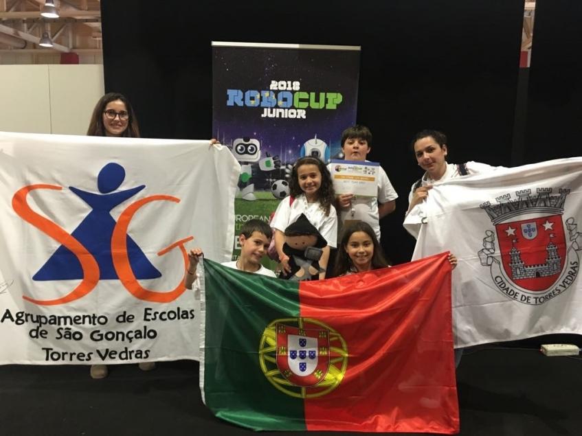 Equipa da Carvoeira distinguida no campeonato europeu de robótica júnior