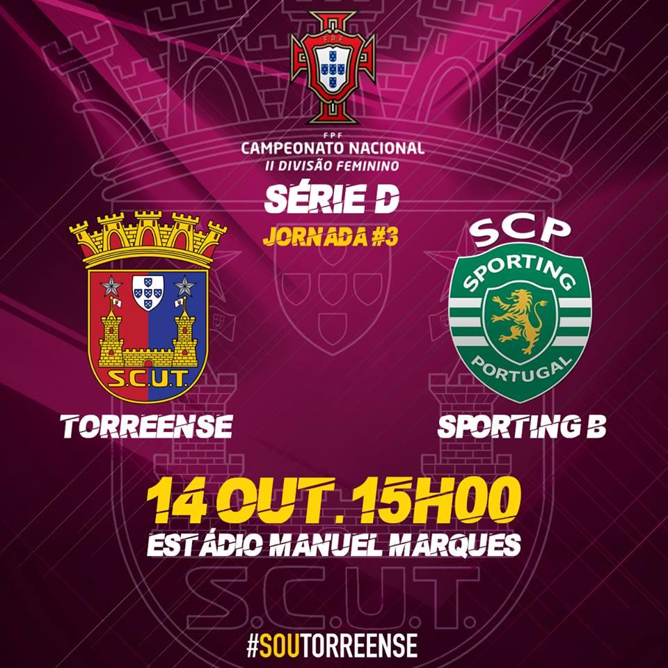 Equipa sénior de Futebol Feminino do Torreense vai defrontar o Sporting Clube de Portugal