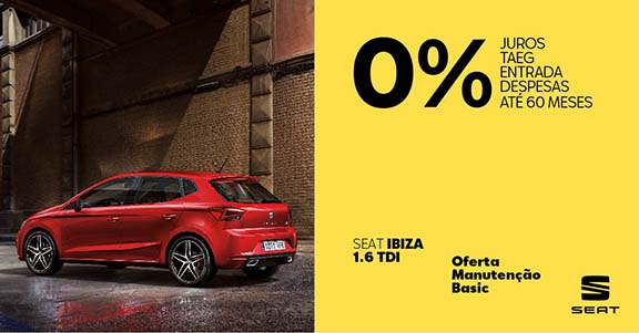 O Novo Ibiza 1.6 TDI está pronto para te fazer mexer com 0% de preocupações