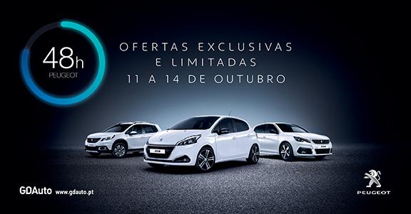«48H PEUGEOT» vai realizar-se de 11 a 14 de Outubro na GDAuto Peugeot em Torres Vedras