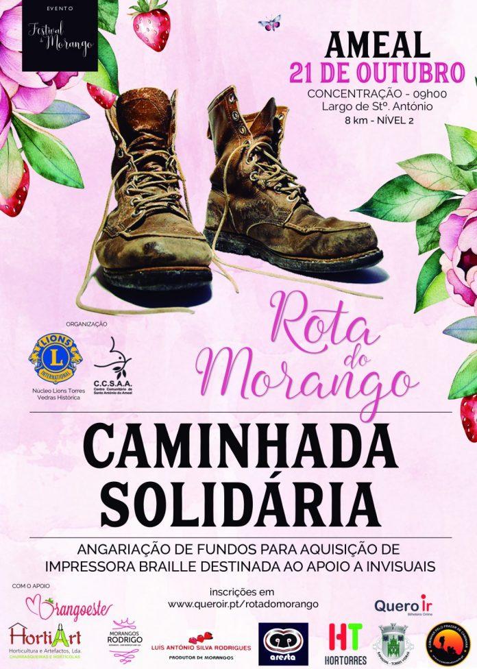 a Caminhada Solidária na Rota do Morango no próximo dia 21