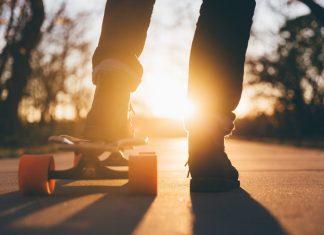 Esta sábado há Longboard Dancing Sunset em Santa Cruz