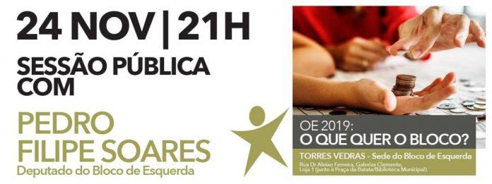 BE de Torres Vedras vai discutir Orçamento de Estado para 2019