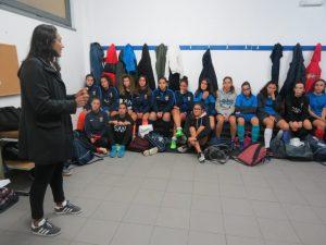 Carla Couto, referência no futebol feminino português, visitou o Torreense