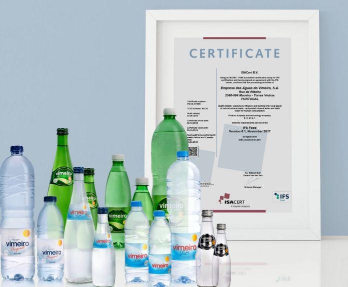 Águas do Vimeiro conquistam nova certificação de qualidade e segurança alimentar