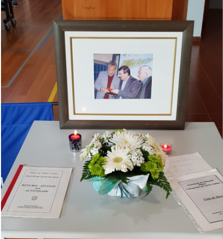 Professores Fernando Ferreira e Tomé Borges foram homenageados na Escola Padre Vítor Melícias